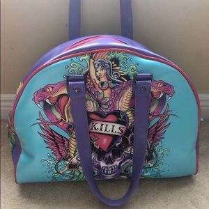 e96b7f05aba8 NWT Ed Hardy travel bag beautiful vibrant colors